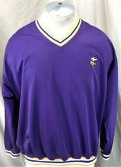 Vintage 90 s Starter Pro Line Minnesota Vikings (Med) NFL Football Pullover  Nylon Sweatshirt c4c6df6d4