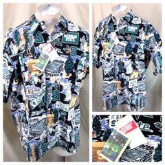 8726c694 Reyn Spooner Michigan State Spartans (Large) Retro Button Up Hawaiian Shirt
