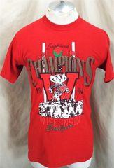 5a048cf3 Vintage 1994 Wisconsin Badgers Rose Bowl Champions (Medium) NCAA Football  Retro Graphic T-