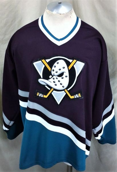 3c759dc7e3d ... where can i buy vintage 90s ccm anaheim mighty ducks xl retro knit nhl  hockey jersey
