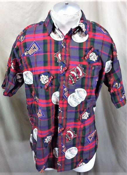 99142e1f0903f7 Vintage Chaps Ralph Lauren Official League Baseball (Large) Button Up Polo  Shirt | Our City Vintage