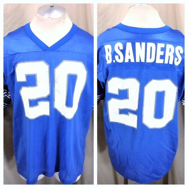 reputable site 1a0db 99ba6 Vintage 90's Champion Detroit Lions (XL) Barry Sanders #20 NFL Football  Graphic Jersey