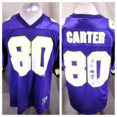 Vintage 90 s Starter Cris Carter  80 (52 XL) Minnesota Vikings NFL Football b1cebcef8