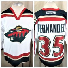 Vintage Minnesota Wild Manny Fernandez  10 (Medium) NHL Hockey Stitched  Graphic Jersey 535225fe8