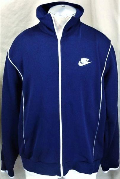 0d3205e5f47d Vintage 80 s Nike Blue Tag Zip Up (XL) Retro Active Wear Hip Hop Track  Jacket