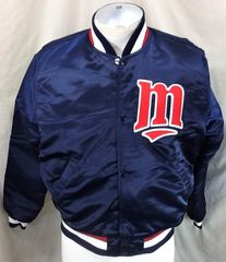 aba6c077efc Vintage 1980 s Starter Minnesota Twins (Medium) Retro MLB Baseball Snap Up  Satin Jacket