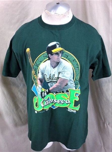 4a7937be8 Vintage 1990 Oaklands A s Jose Canseco (XL) Retro MLB Baseball Graphic T- Shirt