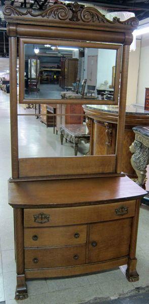 Antique Wash Stand Oak W Mirror Dutch Valley Antique Mall