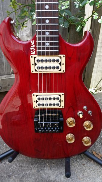 SOLD!! Aria Pro II CS-350 SG with upgraded Pups and a rebuilt tremolo bridge!