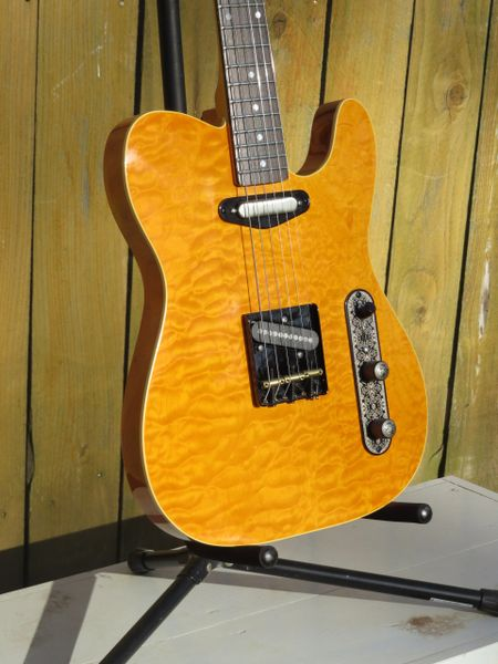 SOLD!! Quilted Butterscotch tele style 6 string electric guitar