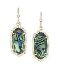 Kendra Scott Dani Earrings in Gold with Abalone Shell