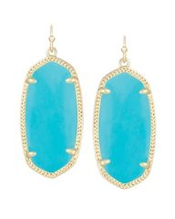 Kendra Scott Elle Earrings in Gold with Turquoise