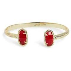 Elton Gold Bracelet in Red