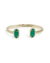 Elton Gold Bracelet in Green