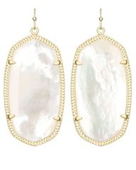 Kendra Scott Danielle Earrings in Gold with Ivory Pearl