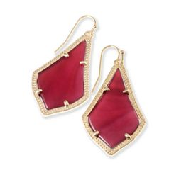 Alex Drop Earrings in Burgundy Illusion in Gold