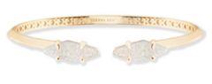 Bianca Cuff Bracelet in Iridescent Drusy & Gold