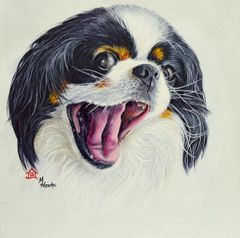 """Laila"" ... Japanese Chin, 5 x 7 Note Cards & 8x10 Matted Print"