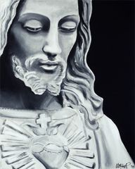 """Most Sacred Heart of Jesus"" ... Assorted Size Paper & Canvas Prints"