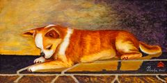 """I See Me"" ... Smooth Coat Chihuahua, 9.25 x 4 (No. 10 Size) Note Cards, 12-Pack"