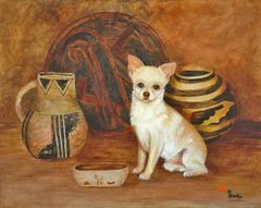 """Ancient History"" ... Smooth Coat Chihuahua, 5 x 7 Note Cards & Assorted Size Paper & Canvas Prints"