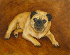 """Roscoe"" ... Pug, 5 x 7 Note Cards, 12-Pack"