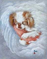 """Arms of an Angel II"" ... Japanese Chin, 5 x 7 Note Cards & 8x10 Paper & Canvas Prints"