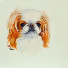 """Rossi"" ... Japanese Chin, 5 x 7 Note Card & 8x10 Matted Print"