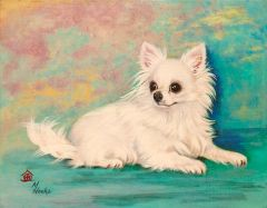 """The Queen"" ... Long Coat Chihuahua, 5 x 7 Note Cards & 8x10 Paper & Canvas Print"