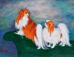 """You're Standing on My Tail"" ... Japanese Chin, 5x7 Note Cards & Assorted Size Paper Prints"