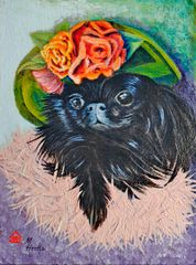 """Pet-A-Palooza Peke"" ... Pekingese, 5 x 7 Note Cards, 12-Pack"