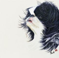 """Miko"" ... Japanese Chin, 5 x 7 Note Cards & 8x10 Matted Print"