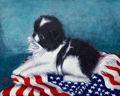 """Margi"" ... Japanese Chin, 5x7 Note Cards & 8x10 Matted Print"