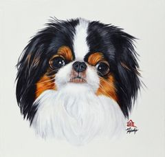"""Stanley"" ... Japanese Chin, 5 x 7 Note Cards & 8x10 Matted Print"