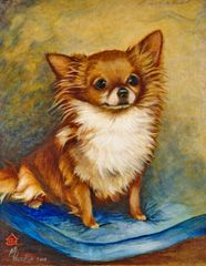 """Three Times a Champion"" ... Chihuahua ... Note Cards & Matted Prints"