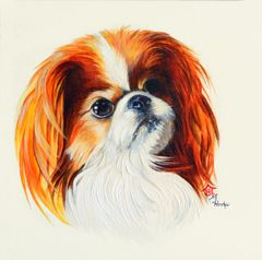 """Sophie"" ... Japanese Chin, 5 x 7 Note Cards & 8x10 Matted Print"