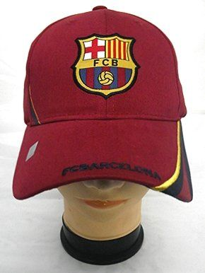FC BARCELONA FOOTBALL CLUB OFFICIAL LOGO SOCCER ADJUSTABLE HAT CAP RED   Sport  398a11eaa21
