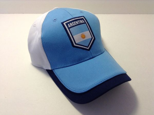 New Argentina World Cup Soccer Cap Hat Adjustable Adult Curved Bill 2   Sport  864f5110cdf