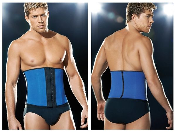 d649a83a55 3 Hook Sport Latex waist cincher body shaper flexibone