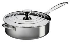 4.5qt. Stainless Steel Saute Pan w/ Lid and Helper Handle