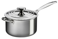 4qt. Stainless Steel Saucepan w/ Lid and Helper Handle