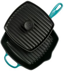 Panini Press and Signature Square Skillet Grill Set - Caribbean