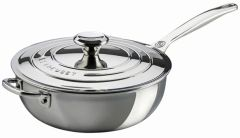 3.5qt. Stainless Steel Saucier Pan w/ Lid and Helper Handle