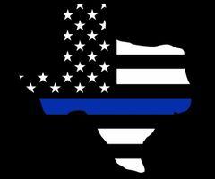 "Texas Back The Blue Flag Decal 5"""