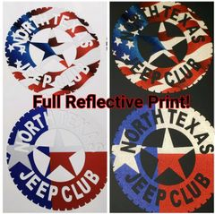 NTJC Badges, Texas Flag and American Flag Print, Reflective and Standard!