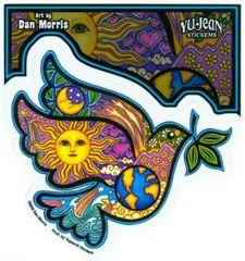 Dan Morris Peace Dove Sticker