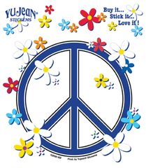 Matt Stewart Peace Sign, Daisies Sticker
