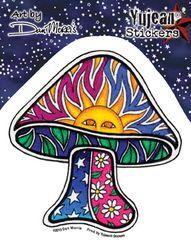 Dan Morris Sun Mushroom Sticker