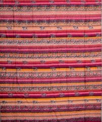 Rusty Red Striped Paisley & Elelphant Tapestry