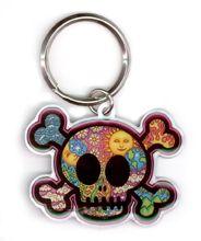 Dan Morris Cute Skull Metal Key Chain